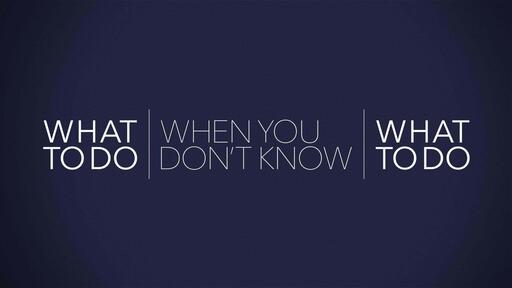 Join us for Worship Sunday May 31, 2020 - What To Do When You Don't Know What To Do - 2 Chronicles 20