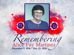 Alice Martinez Memorial Service | Friday, June 5, 2020 1:00PM