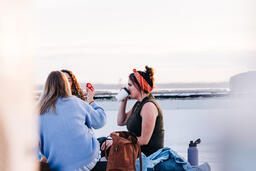 Women Talking and Having a Picnic Together  image 1