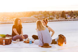 Women Talking and Having a Picnic Together  image 3