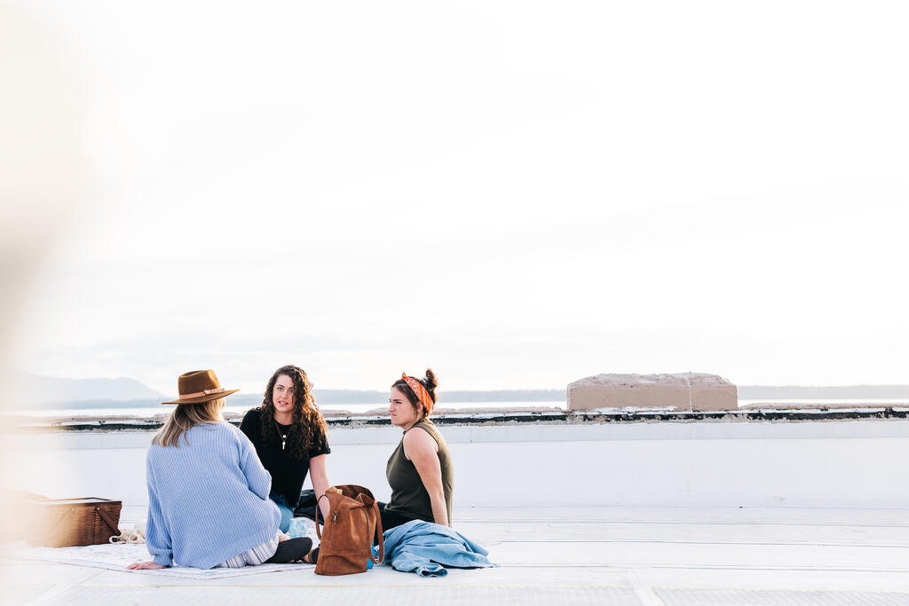 Women Talking and Having a Picnic Together large preview