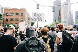Peaceful Protesters Holding Black Lives Matter Signs  image 2