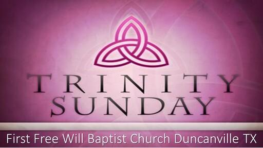 Trinity Sunday (6-7-2020)