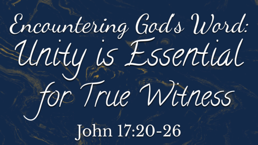 A word form Rev. Phillip Powell and Unity is Essential for Pure Witness