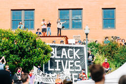 People Gathered Together at a Black Lives Matter Rally  image 3