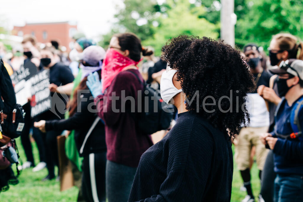 Black Woman at a Rally large preview