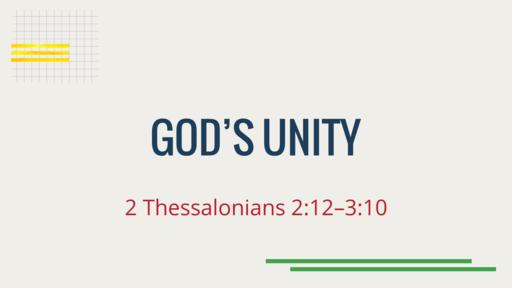 06-07-2020 God's Unity