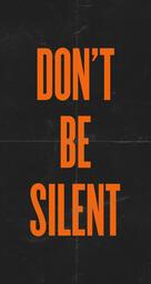 Don't Be Silent Orange IG Stories image