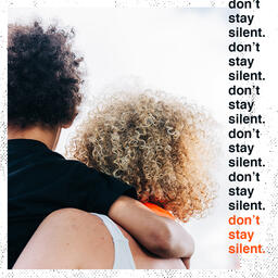 Don't Be Silent Orange Squares image