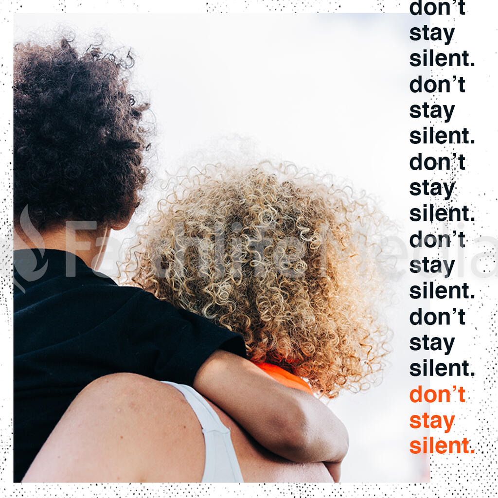 Don't Be Silent Orange Squares preview