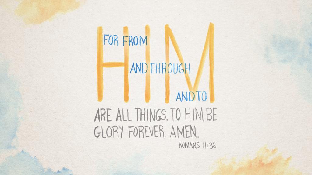 Romans 11:36 large preview