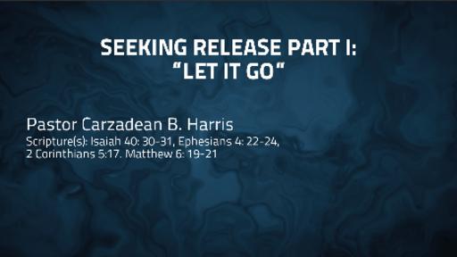 SEEKING RELEASE PART 1: LET IT GO