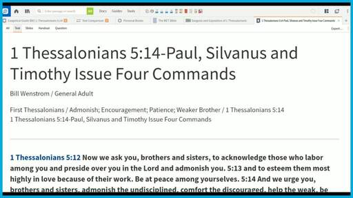 1 Thessalonians 5:14-Paul, Silvanus and Timothy Issue Four Commands
