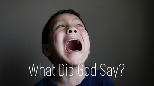 What Did God Say?