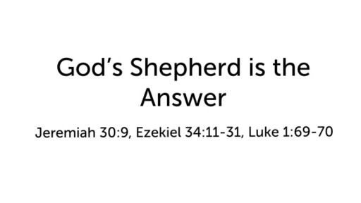 God's Shepherd is the Answer