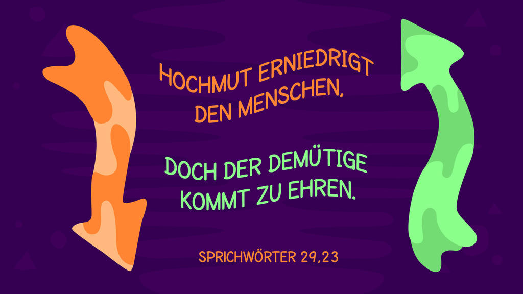 Sprüche 29,23 large preview