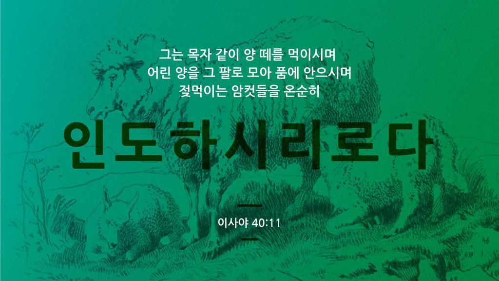 이사야 40:11 large preview