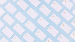 White Credit Cards on a Blue Background  image 7