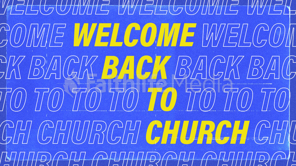 Welcome Back To Church Outline large preview