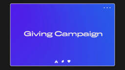 Giving Campaign UIUX  PowerPoint image 1