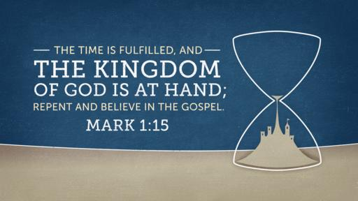 Mark 1:15 verse of the day image