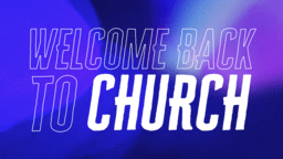 Welcome Back To Church Bokeh  PowerPoint image 1