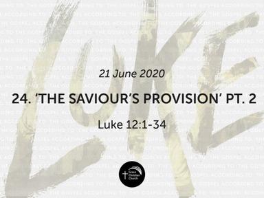 24. 'The Saviour's Provision, Part 2' (Luke 12:1-34)