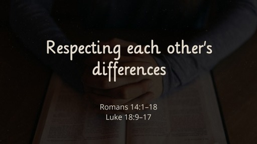 Respect each other's differences