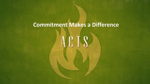 Commitment Makes a Difference