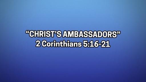 Christ's Ambassadors-June 21, 2020