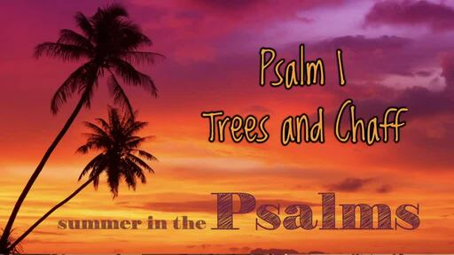 Psalm 1 - Trees and Chaff