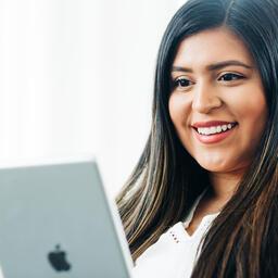 Woman Studying on an iPad  image 3