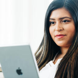 Woman Studying on an iPad  image 4