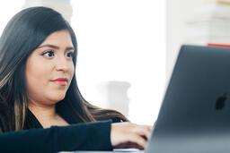 Woman Studying on an iPad  image 2