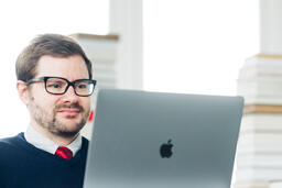 Man Studying on a Laptop  image 2