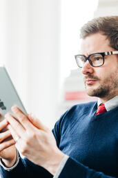 Man Studying on an iPad  image 2