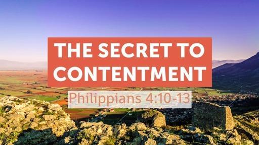 The Secret To Contentment
