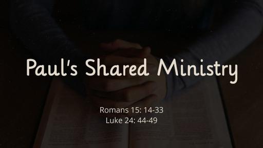 Romans  15:14-33