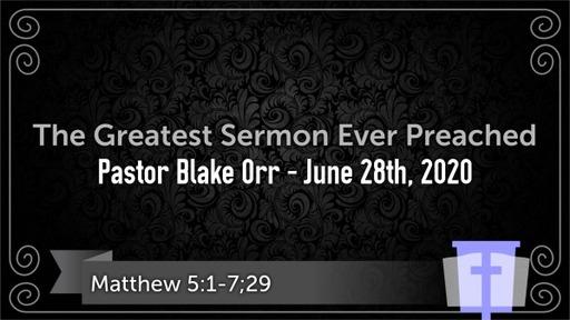 Greatest Sermon