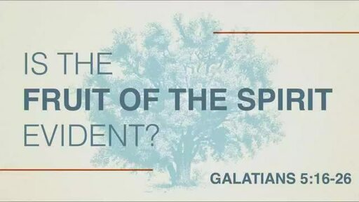 Is the Fruit of the Spirit Evident?