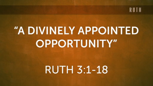"""A Divinely Arranged Opportunity"" (Ruth 3:1-18)"