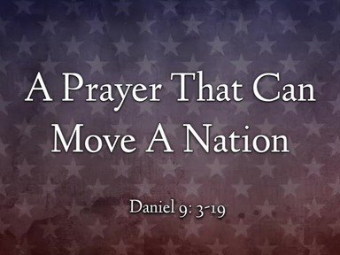 A Prayer That Can Move A Nation