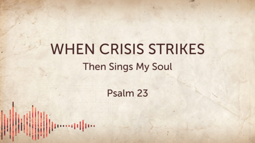 When Crisis Strikes