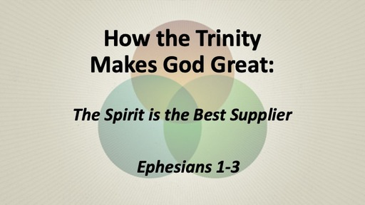 The Spirit is the Best Supplier