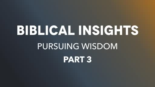 Biblical Insights Pt3