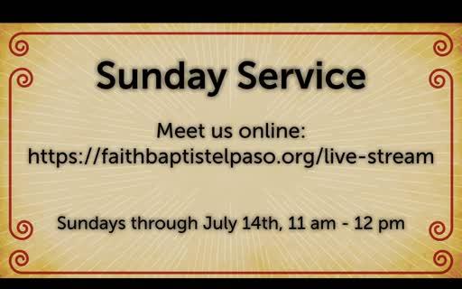 July 8, 2020 Wednesday Service