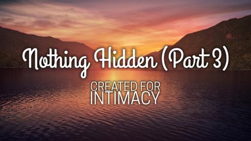 Nothing Hidden (part 3)
