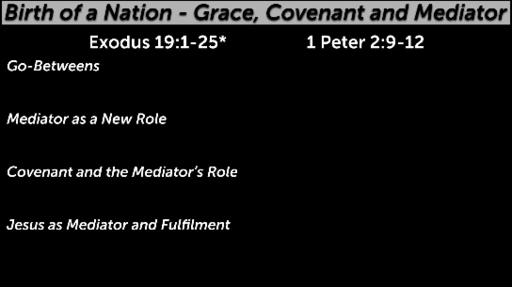 Birth of a Nation - Grace, Covenant and Mediator