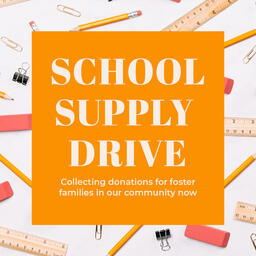 School Supply Drive Yellow  PowerPoint image 5
