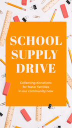 School Supply Drive Yellow  PowerPoint image 6